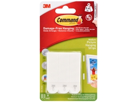 3M Command Medium Picture Hanging Strips 17201-4PKUKN